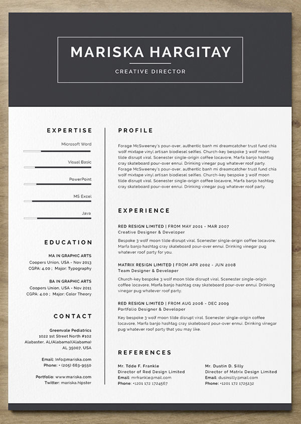 The Best Free Creative Resume Templates Of 2019 Skillcrush Free Resume Template Word Resume Template Word Unique Resume Template