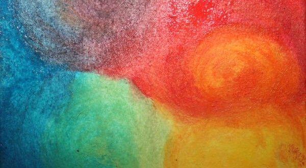 ACQUARELLO STEINERIANO - La visita del raggio di sole - Lapappadolce
