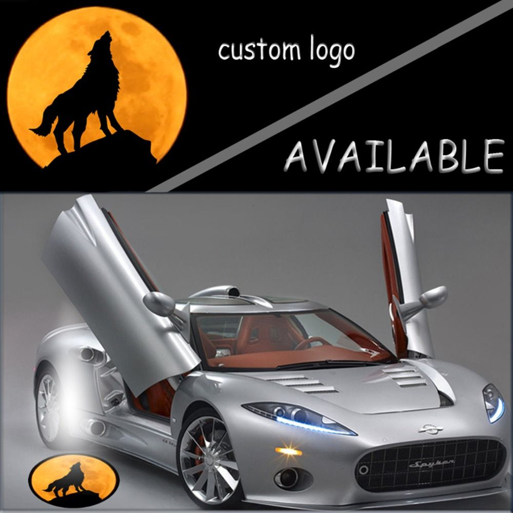Pair X Men Wolverine Wolf And Moon Knight Logo Car Door Welcome Projector Ghost Shadow Led Light 1956 Car Lights Lighting Logo Car