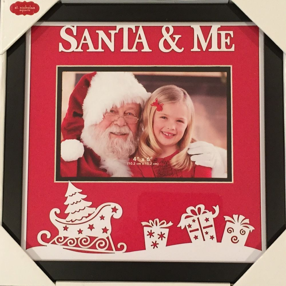 St Nicholas Square Santa Me Picture Frame 4 X 6 New In Box