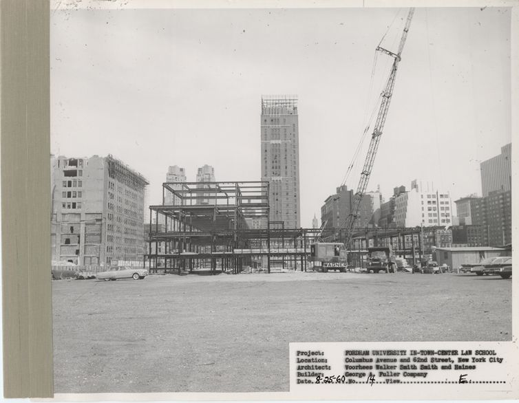 Construction Site On West Side For Lincoln Center 1961 New York Skyline Construction Site University