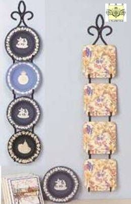 Plate Rack - Vertical Four Place Hanger for Small Plates  sc 1 st  Pinterest & Plate Rack - Vertical Four Place Hanger for Small Plates | For the ...