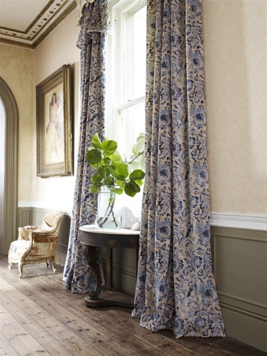 Sporting Life Velvet Fabric A luxurious printed velvet curtain fabric featuring glorious pheasants amongst swirling lush · Blue Velvet CurtainsBlue Bedroom Lovely - Unique blue bedroom curtains Simple Elegant