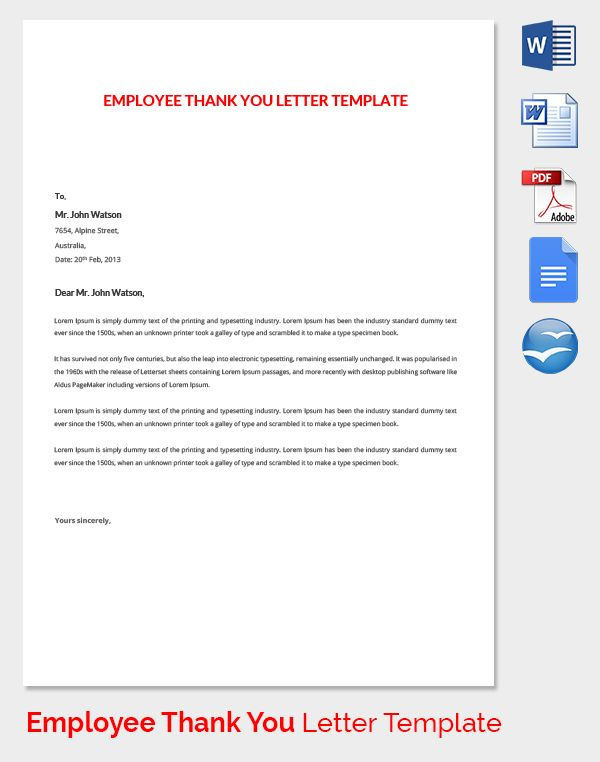 employee thank you letter template free word pdf documents - thank you letter templates pdf word