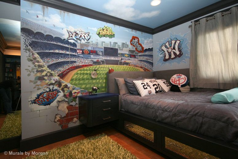 Murals For Kids Custom Wall San Francisco Bay Area Mural Yankee Stadium