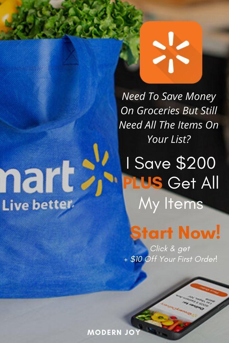 Walmart Grocery Split My Bill In Half + 10 Off Your First
