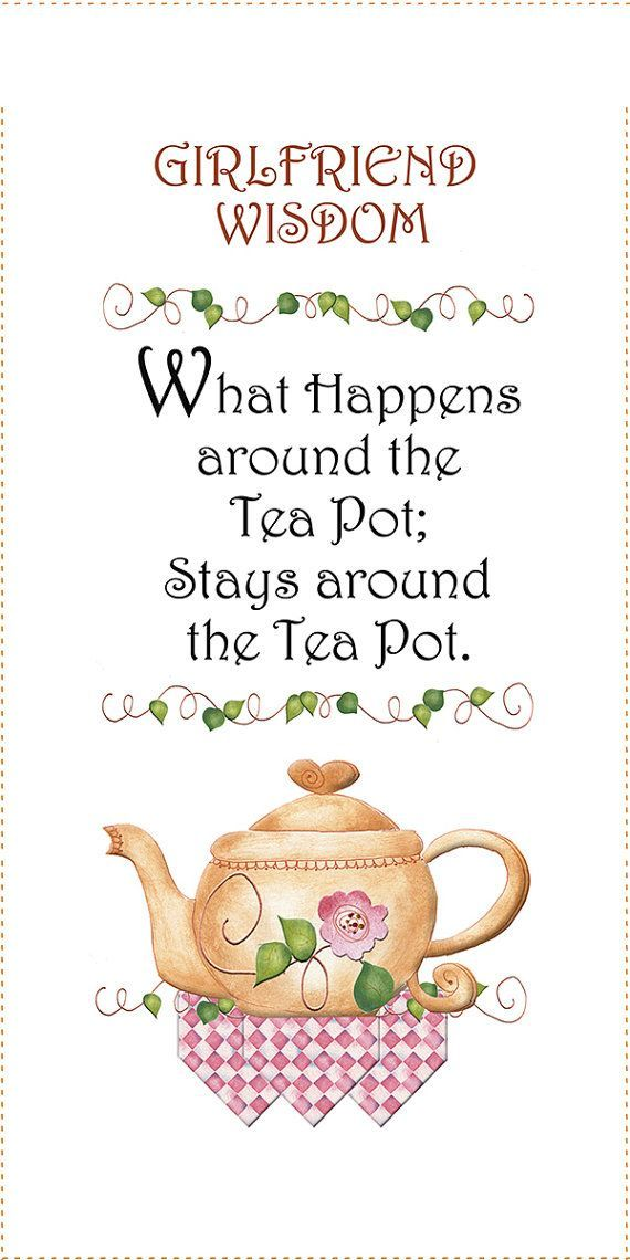 Tea Pot for Girlfriend Wisdom - What Happens Around the Tea Pot, Stays #teapotset