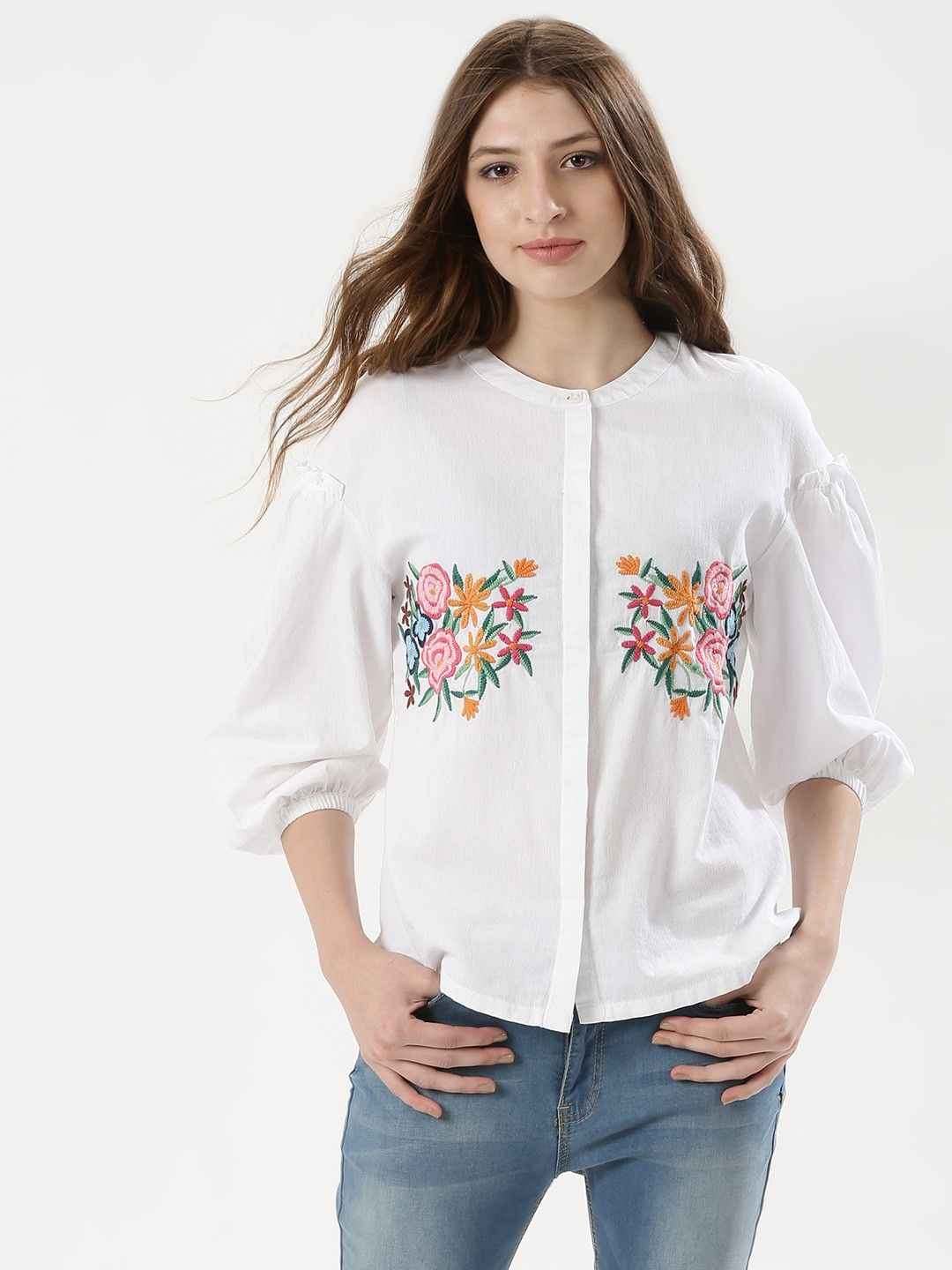 dc0cdaecb03 Buy Embroidered Shirt For Women - Women s White Shirts Online in India