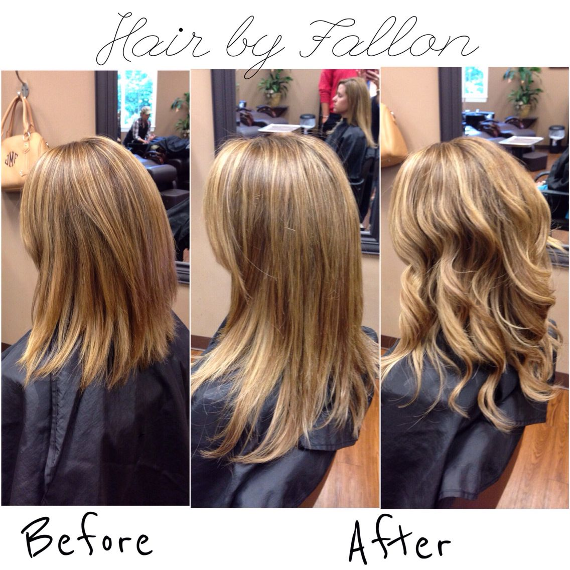 Hot Heads Extensions Before After Hairbyfallon Hair Pinterest