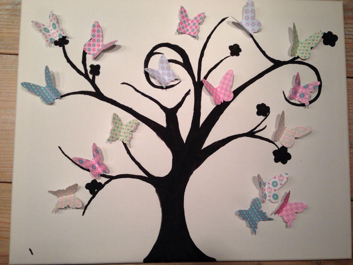 Zelf gemaakt uit inspiratie van andere werken met vlinders