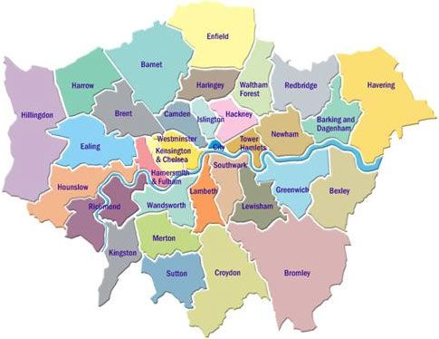 London Map Areas.London Map By Area Twitterleesclub