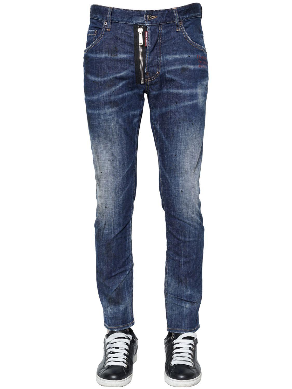 16cm Extensible Jeans En Denim Patineur Printemps / Été Dsquared2 b9vsLCaO