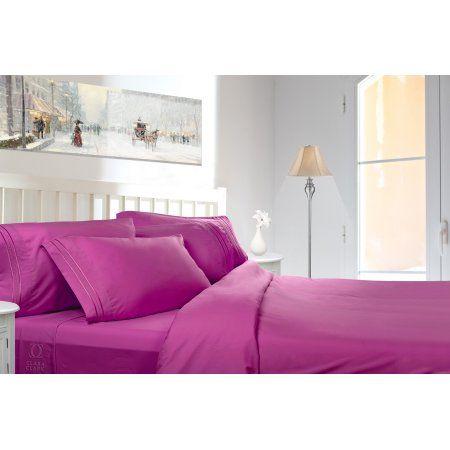Clara Clark 1800 Series Deep Pocket 4pc Bed Sheet Set King Size ...