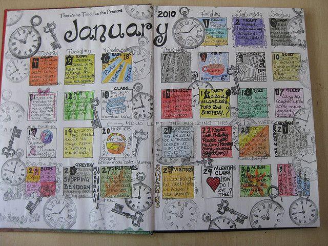 Art Journal Calendar Pages : Journal journaling calendar and