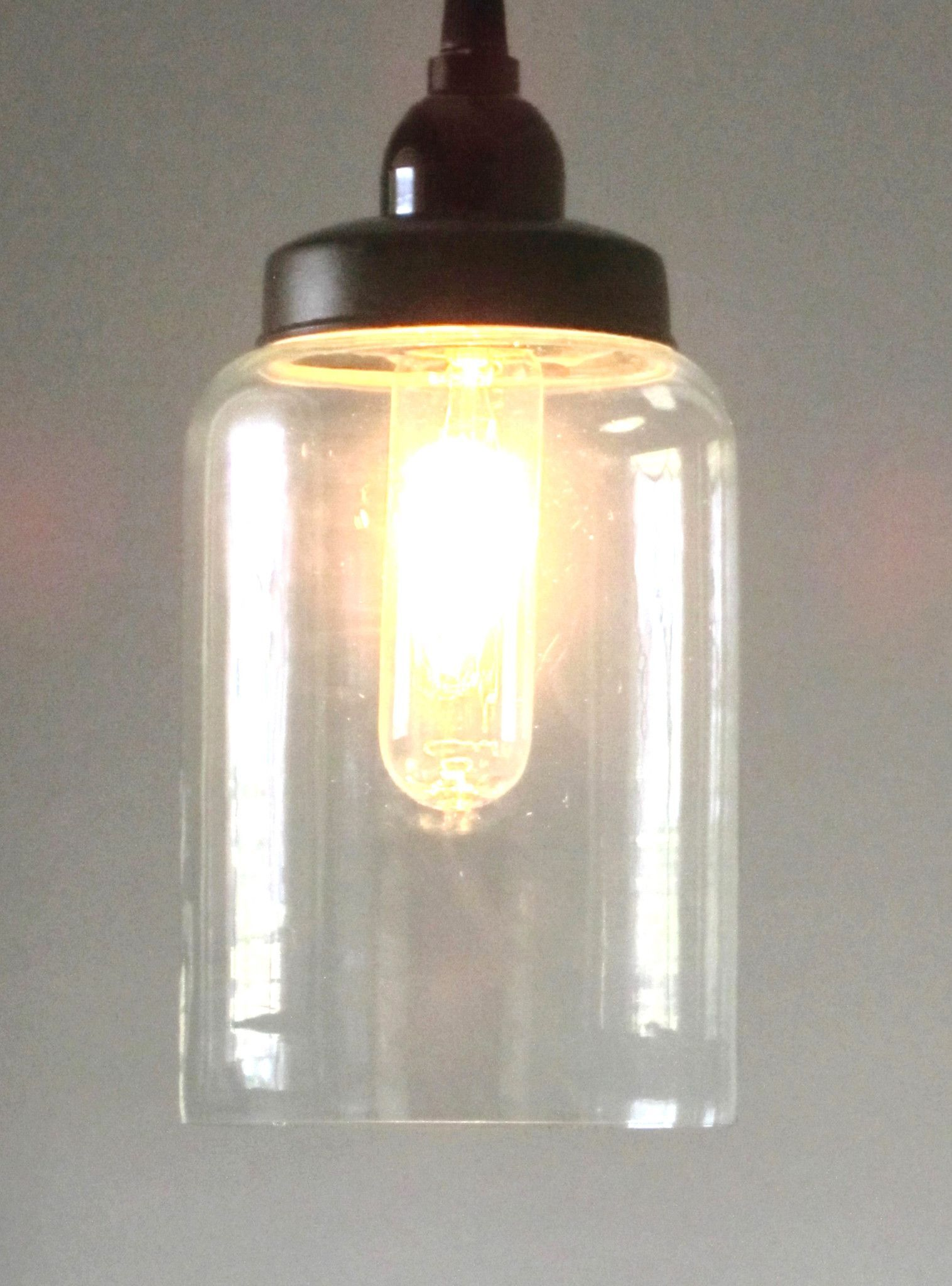 Glass Cylinder Pendant Light
