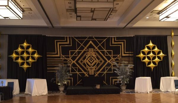 Art Deco Gold Lounge Balloons {Life O' The Party} - www ...