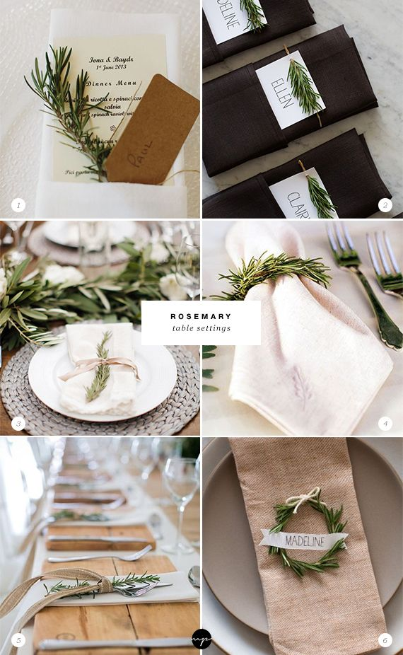 24 Ways To Decorate With Rosemary This Holiday Christmas Decorations Table Settings Diy Christmas Table Merry Christmas Decoration
