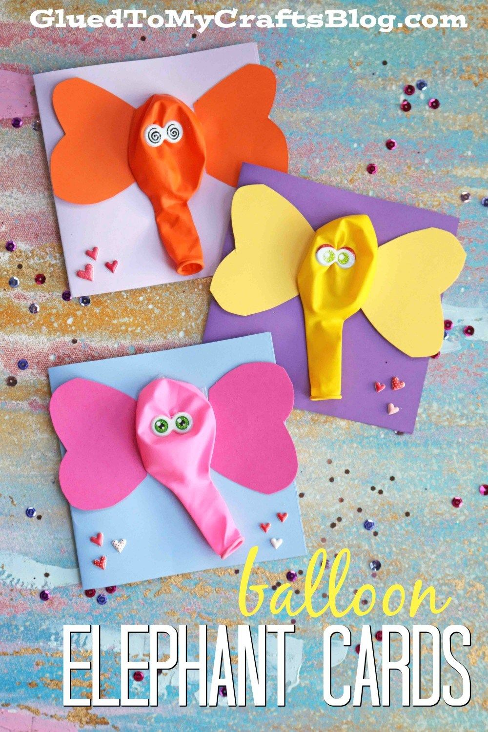 Balloon Elephant Card Kid Craft Paper Art Pinterest Craft