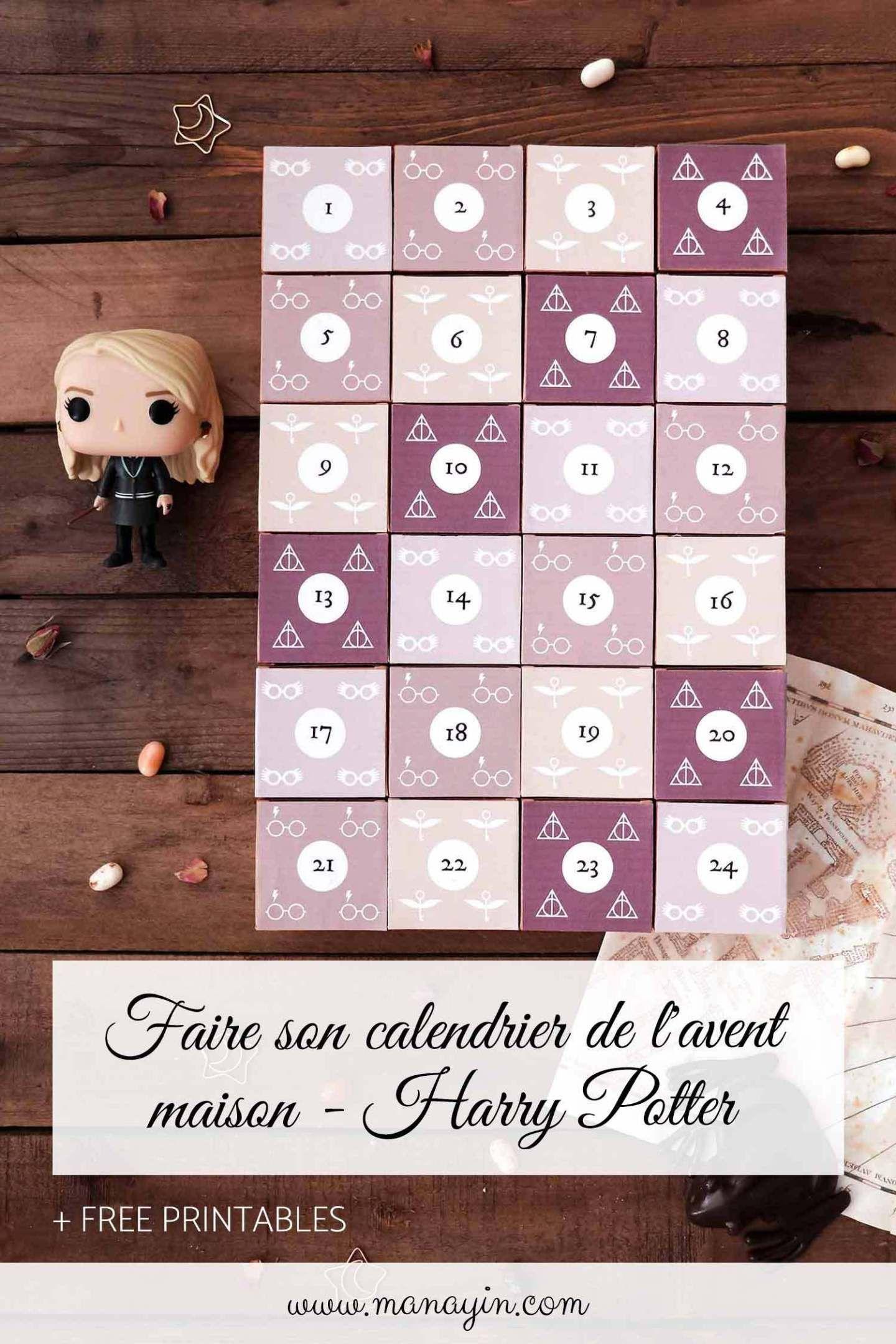 Calendrier de l'Avent maison Harry Potter #calendrierdelaventfaitmaison