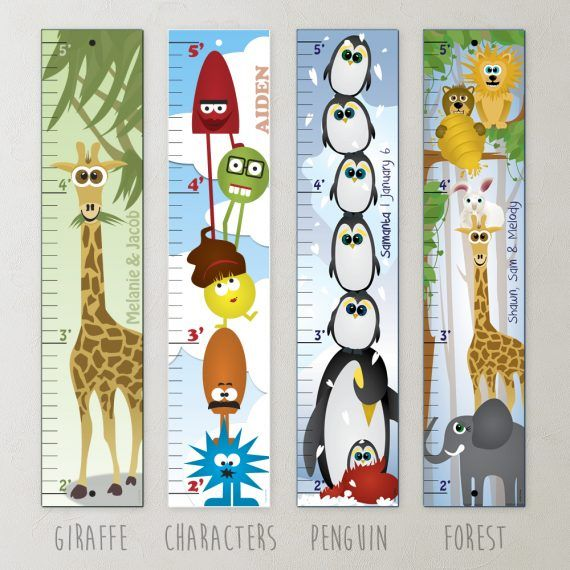 Personalized Growth Chart With Your Child S Name On It V Collection Growth Chart Kids Growth Chart Personalized Growth Chart