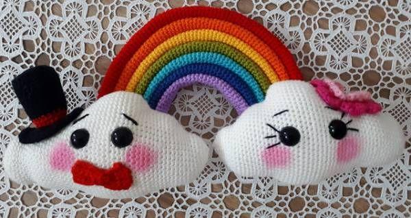 Amigurumi Crochet Pattern – Mr & Mrs Cloud
