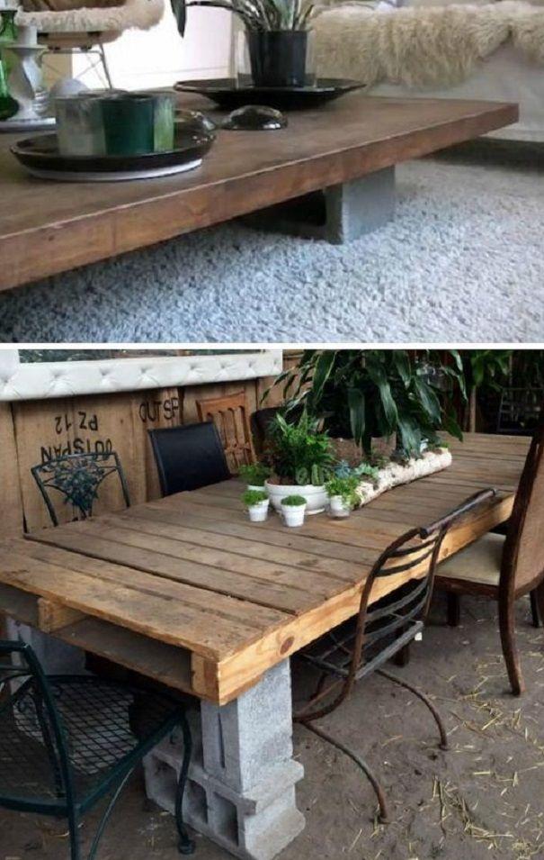 24 coole Ideen um Betonsteine im Garten oder Haushalt zu verwenden ...