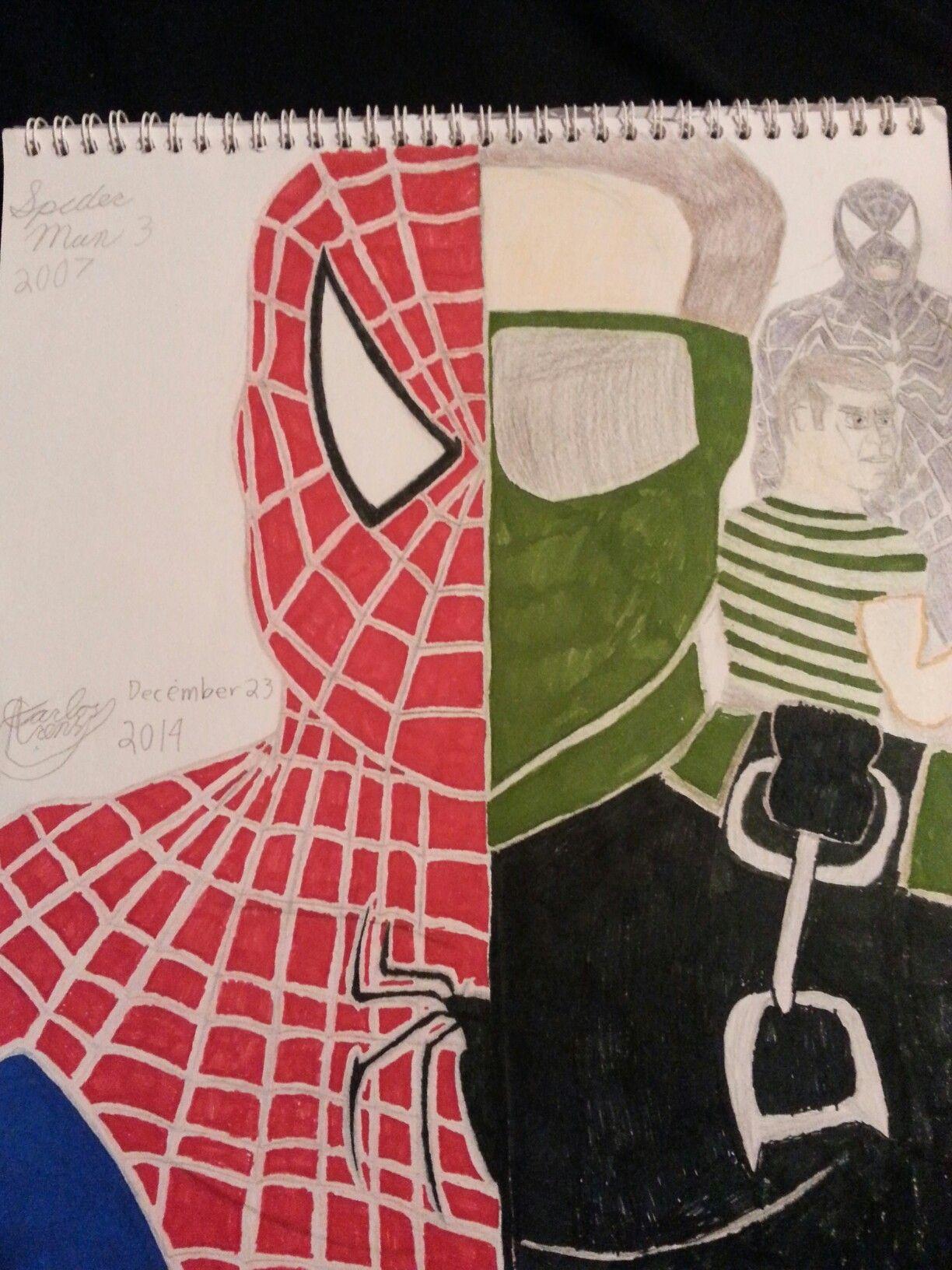 Spider Man 3 drawing #spiderman #sandman #newgoblin #venom ...