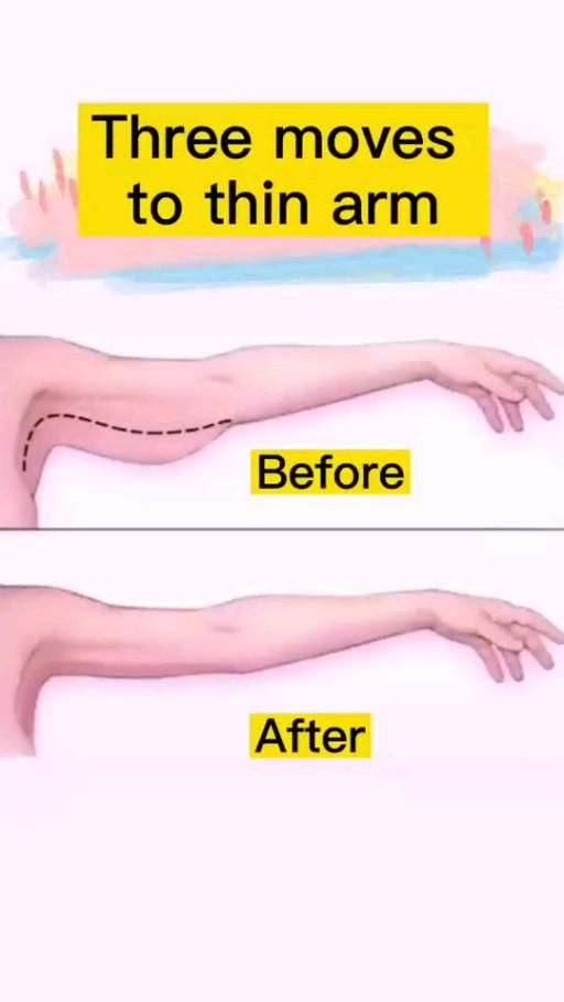 Three moves to thin arm at home. Slim down your up