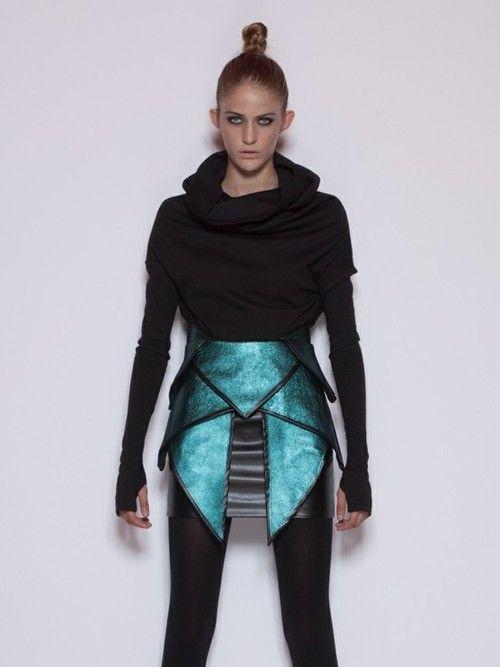 Futuristic Look / Future Fashion, Futuristic Clothing, Achilles Skirt by Doramojzes käyttäjältä Futuristic News   We Heart It