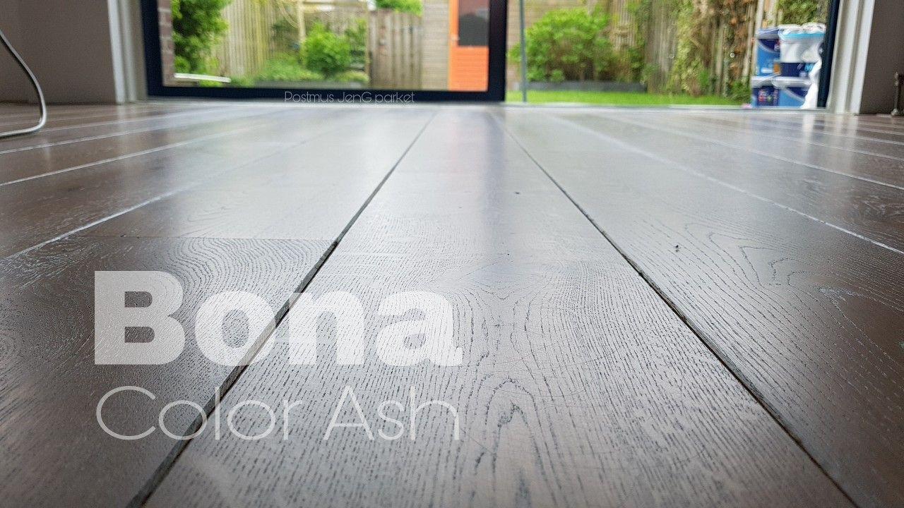Eiken houten vloer geschuurd geolied met bona craftolie kleur ash