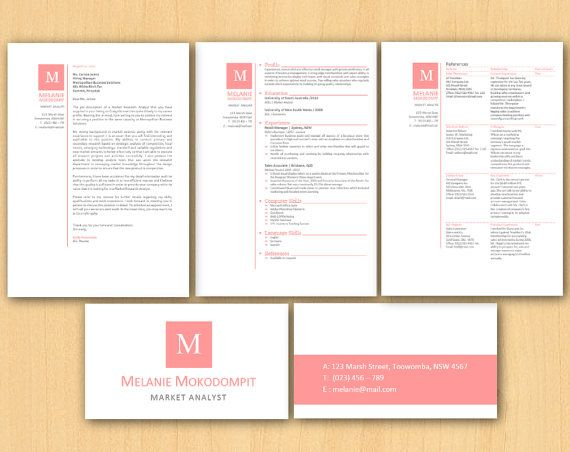 Rose Microsoft Word Stationery Template Pack Resume By Inkpower