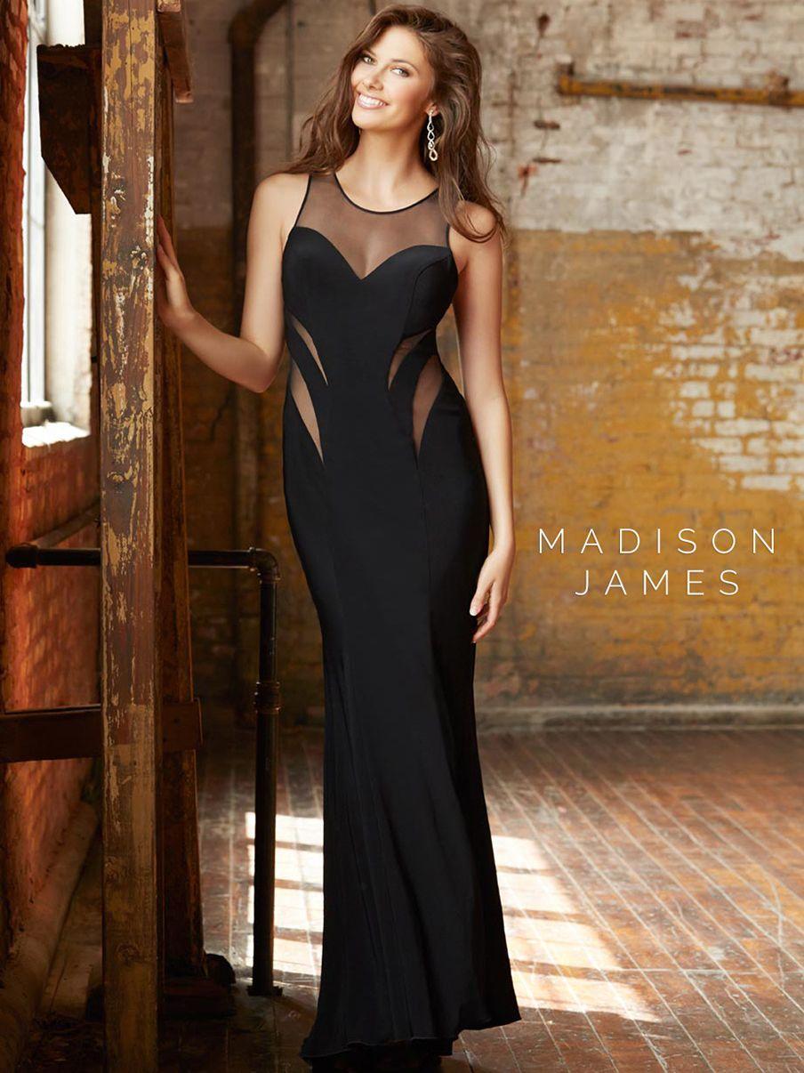 Long chiffon prom dress with side cutouts style 9941