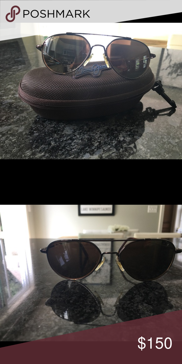83b8f2c4e99 Maui Jim Aviator Sunglasses Maui Jim Aviators dark brown all glass frame  and lenses. Maui Jim Accessories Sunglasses