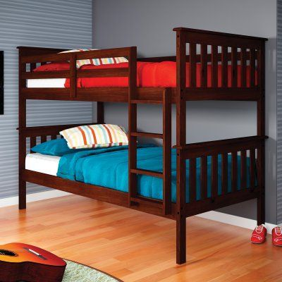 Donco Kids Twin Over Twin Mission Bunk Bed Products Bunk Beds