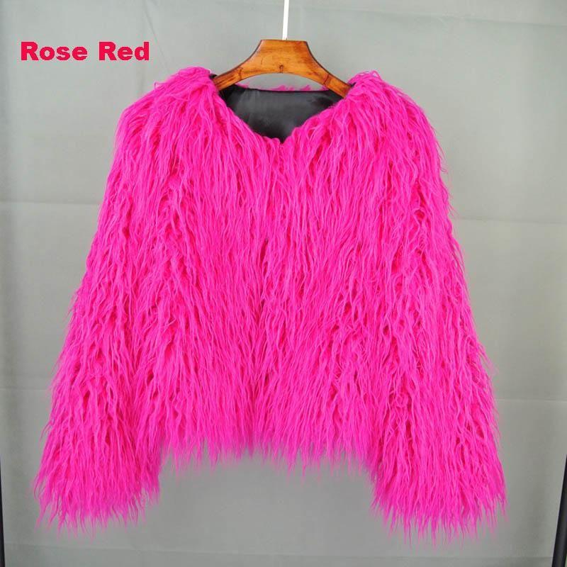 be364c9906f Plus Size Fluffy Faux Fur Jacket