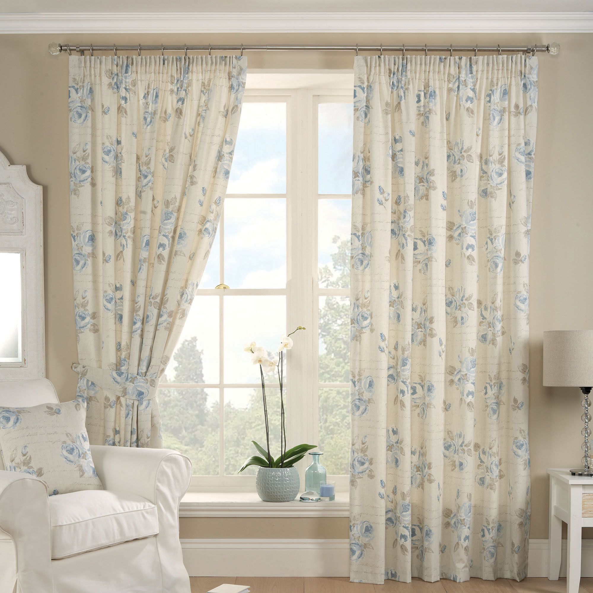 blue francesca curtain collection dunelm curtains for. Black Bedroom Furniture Sets. Home Design Ideas