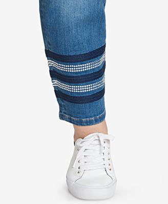 4fb1e369 Tommy Hilfiger Plus Size Greenwich Embellished Skinny Jeans, Created for  Macy's - Blue 14W