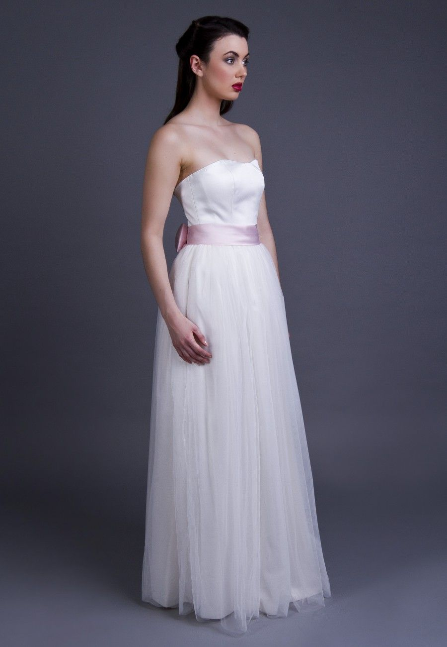 1940s inspired wedding dress featuring full length dress with boned ...