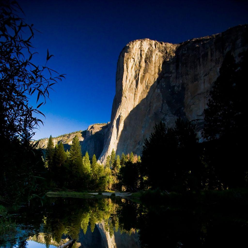 Nature High Mountain Shadow Scenery retina iPad Air