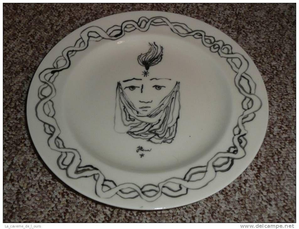 Rare assiette en porcelaine de Limoges Théodore Haviland, édition ...
