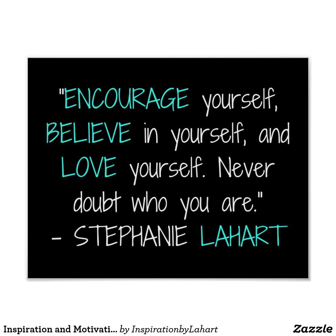 Inspiration And Motivation Quote Poster Zazzle Com Quotes For