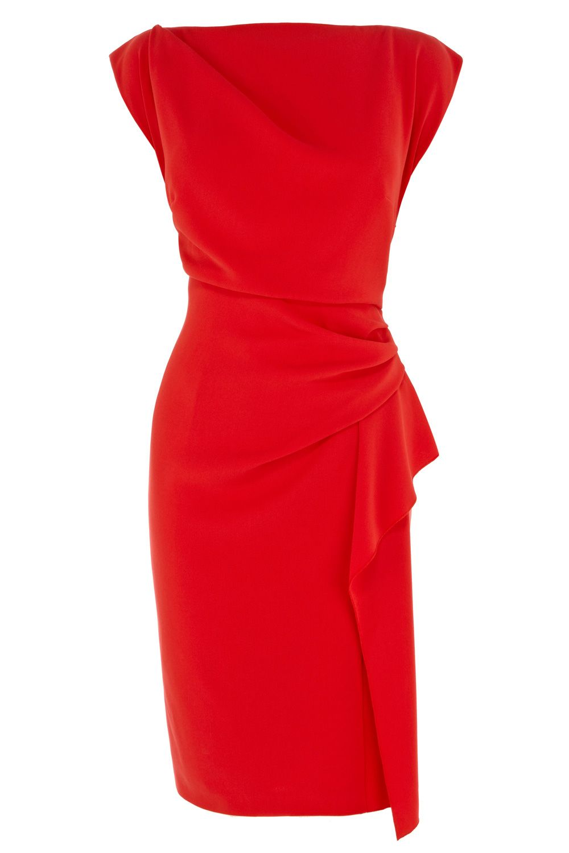 robe rouge cintr e l gante sans manches col droit robe pinterest robes rouges droit. Black Bedroom Furniture Sets. Home Design Ideas