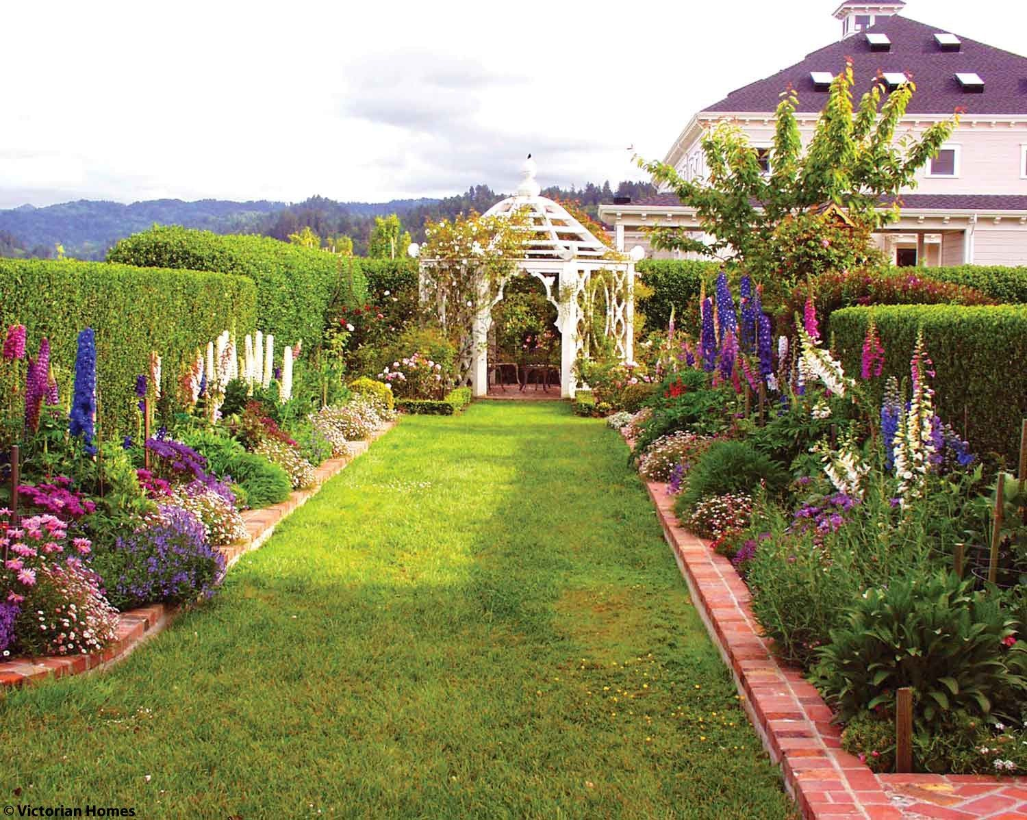 Beautiful Victorian Gardens Garden Design California Garden