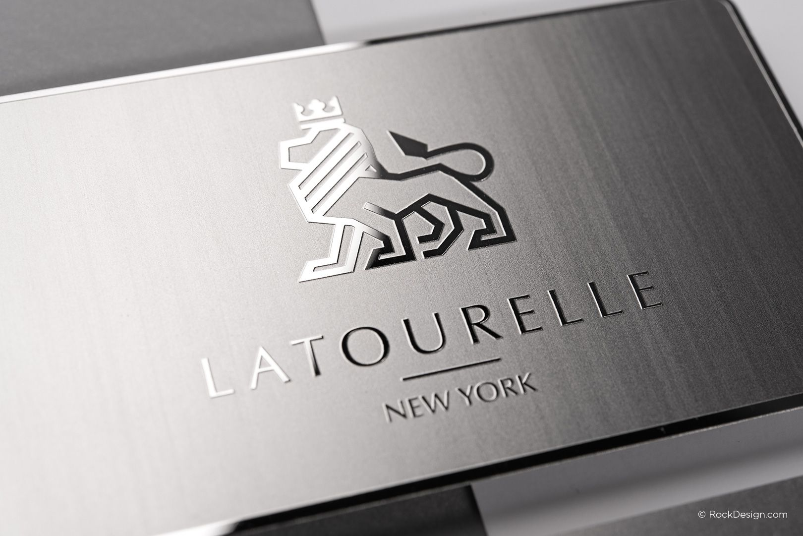 Sophisticated modern stainless steel business card with etching and sophisticated modern stainless steel business card with etching and mirror finish latourelle rockdesign luxury reheart Gallery