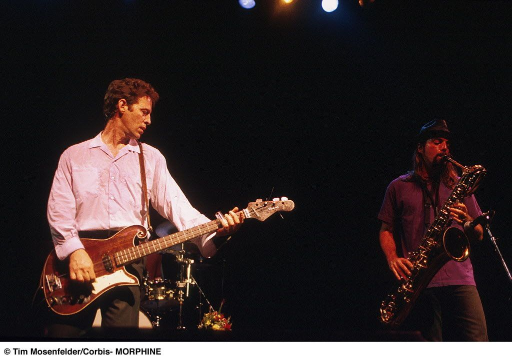 Mark Sandman & Dana Colley of prog jazz band MORPHINE // im gonna get this image made into a poster :)