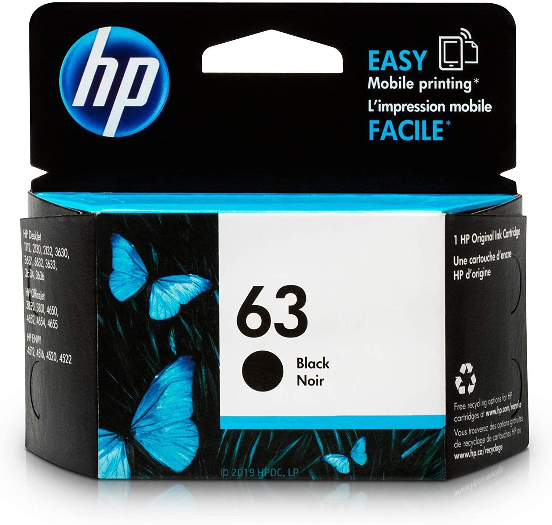 Hp 63 ink cartridge black f6u62an business