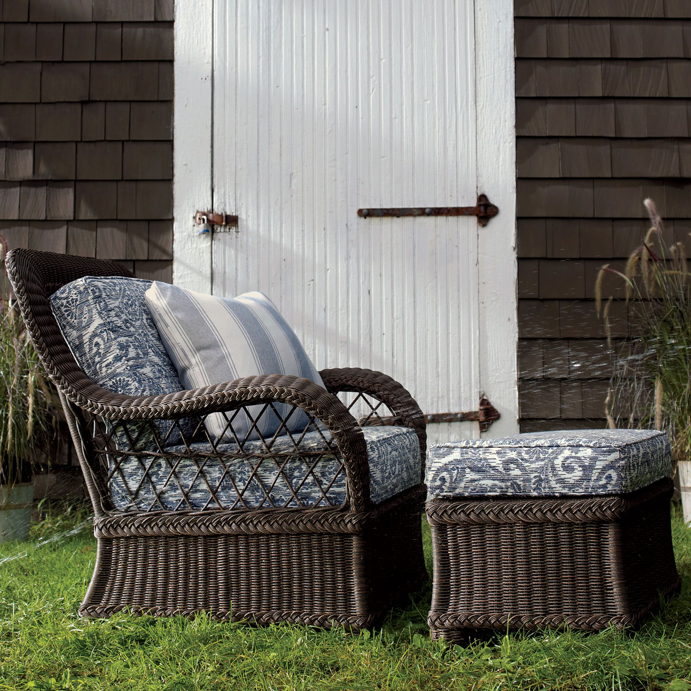 Lakehouse Chair and Ottoman Ethan Allen Home and Garden Furniture