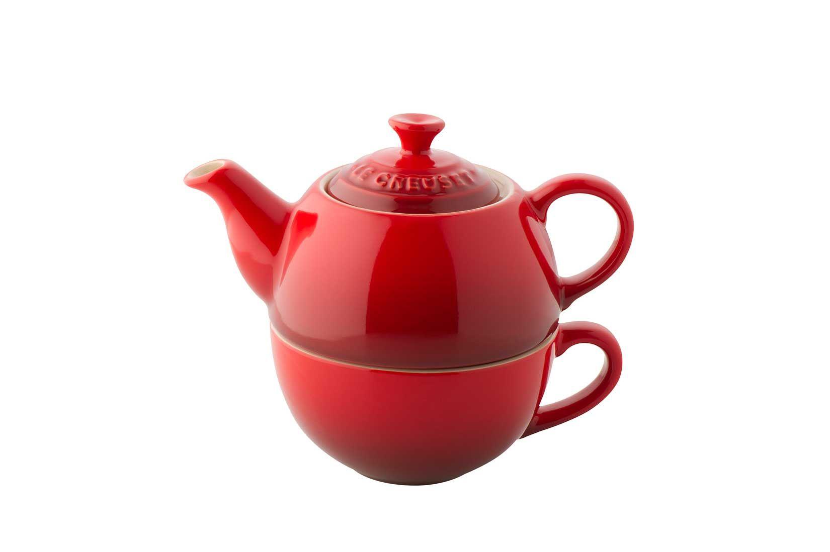 Le Creuset Stoneware Tea For One In Cerise