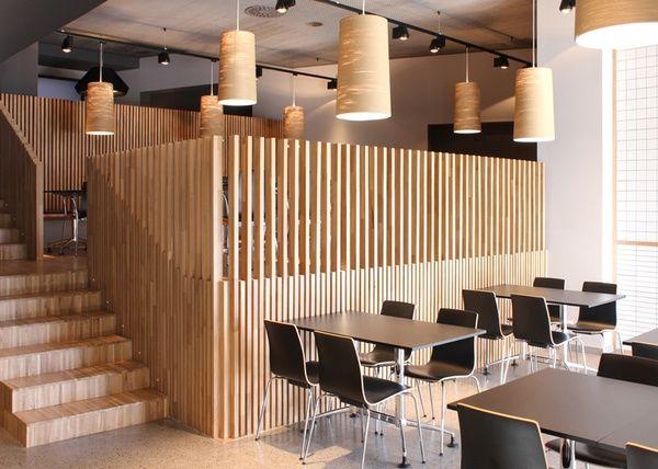 Restaurant Restaurant Interior Slat Wall Wood Slat Wall