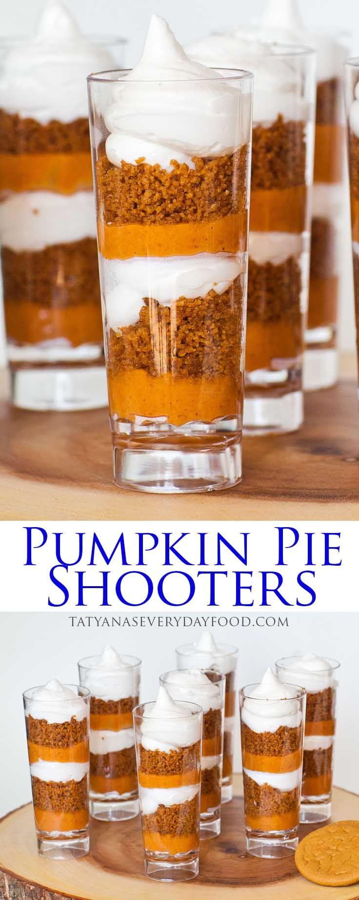 Pumpkin Pie Parfait Cups (video) - Tatyanas Everyday Food